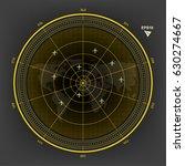vector yellow radar world map... | Shutterstock .eps vector #630274667