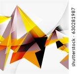 3d triangles and pyramids ... | Shutterstock .eps vector #630281987