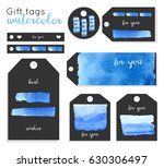 set of creative hand painted... | Shutterstock .eps vector #630306497