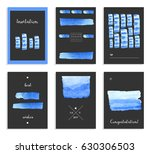 set of creative hand painted... | Shutterstock .eps vector #630306503