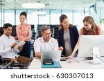 business colleagues interacting ... | Shutterstock . vector #630307013