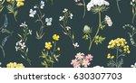 gentle watercolor floral... | Shutterstock . vector #630307703