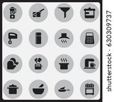 set of 16 editable cooking...