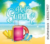 summer illustration with a... | Shutterstock .eps vector #630317957