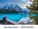 Stock photo beautiful lake louise in banff national park in the rocky mountains of alberta canada 630322607