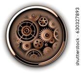 button shiny chrome metallic...   Shutterstock .eps vector #630327893