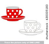 red tea pair  the cup with... | Shutterstock .eps vector #630335183