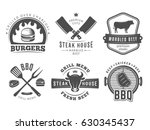 bbq  burger  grill badges. set... | Shutterstock .eps vector #630345437