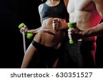 strong young couple working out ... | Shutterstock . vector #630351527