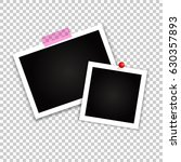 vintage photo frame on... | Shutterstock .eps vector #630357893