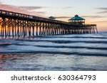 Folly Beach Pier At Sunrise In...