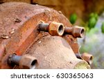rusty mother from bolts | Shutterstock . vector #630365063