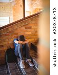 portrait of schoolboy holding... | Shutterstock . vector #630378713