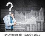 faceless pensive businessman... | Shutterstock . vector #630391517