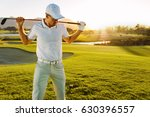 shot of male golfer with golf... | Shutterstock . vector #630396557