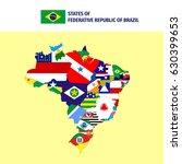 states of brazil | Shutterstock .eps vector #630399653