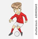 soccer player action kick the... | Shutterstock .eps vector #630403643