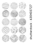 collection of hand drawn... | Shutterstock . vector #630403727
