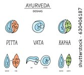 ayurvedic elements and doshas... | Shutterstock .eps vector #630406187