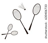 badminton icon. silhouettes of... | Shutterstock .eps vector #630406733