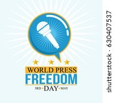 world press freedom day... | Shutterstock .eps vector #630407537