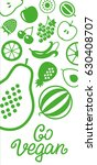 set of vegetables and fruits... | Shutterstock . vector #630408707