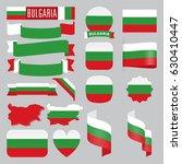 set of bulgaria maps  flags ... | Shutterstock .eps vector #630410447