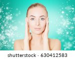 portrait of gorgeous woman over ... | Shutterstock . vector #630412583