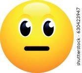 neutral face emoji | Shutterstock .eps vector #630423947