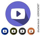 icons youtube logos for web ... | Shutterstock .eps vector #630426587