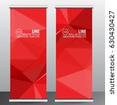red roll up business brochure... | Shutterstock .eps vector #630430427