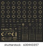 circle and square wicker... | Shutterstock . vector #630443357