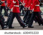 royal guards in traditional red ... | Shutterstock . vector #630451223