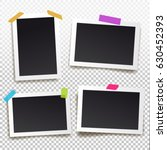 set of  photo frame with tape....   Shutterstock .eps vector #630452393