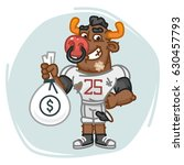 bull football player holds... | Shutterstock .eps vector #630457793