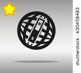 compass black con button logo... | Shutterstock .eps vector #630458483