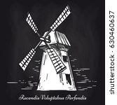 hand sketched mill on... | Shutterstock .eps vector #630460637