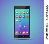 elegant smartphone with... | Shutterstock .eps vector #630461327