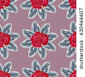 seamless pattern with beautiful ... | Shutterstock .eps vector #630466607