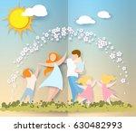 beautiful women with her... | Shutterstock .eps vector #630482993