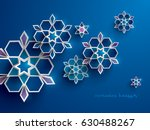 paper graphic of islamic... | Shutterstock .eps vector #630488267