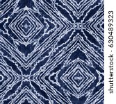 abstract ornate indigo shibori... | Shutterstock . vector #630489323