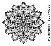 circle lace ornament  round... | Shutterstock .eps vector #630490313