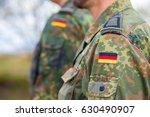 german flag on german army... | Shutterstock . vector #630490907