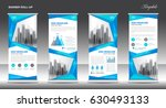 roll up banner stand template... | Shutterstock .eps vector #630493133