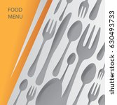 abstract restaurant art  vector ... | Shutterstock .eps vector #630493733