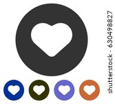 icons favourite heart for web ... | Shutterstock .eps vector #630498827