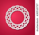 round lacy frame with cutout...   Shutterstock .eps vector #630510737