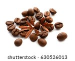 coffee grains and leaves | Shutterstock . vector #630526013