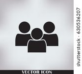people icon in trendy flat... | Shutterstock .eps vector #630536207
